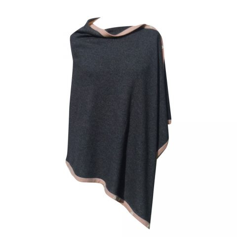poncho-with-contrast-edging-charcoal-petal-pink-edging