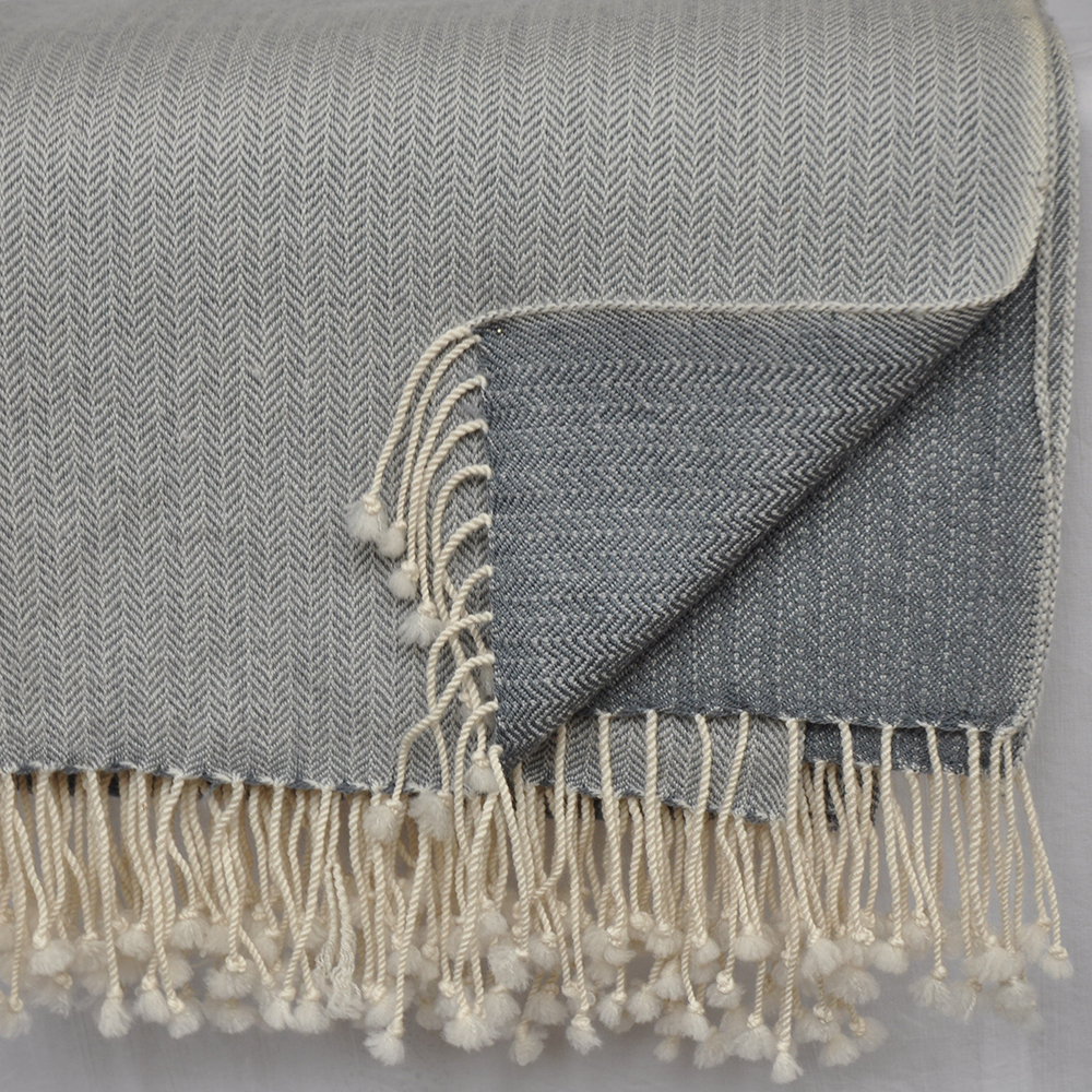 cashmere and merino throw