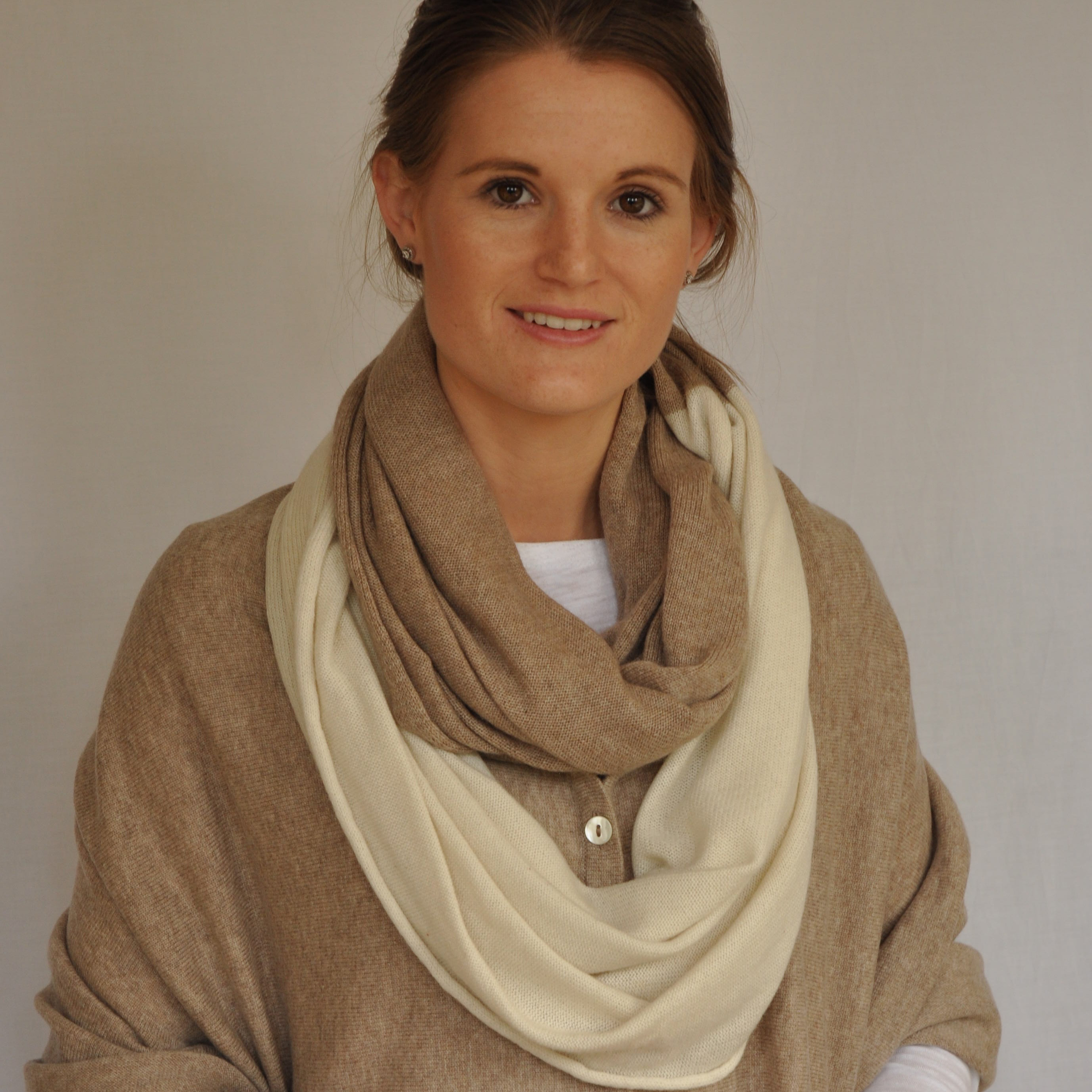 long cashmere snood