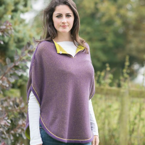 olivia-poncho-aubergine-and-lime