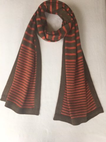 stripy scarf orange