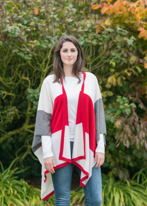 soft cashmere cape