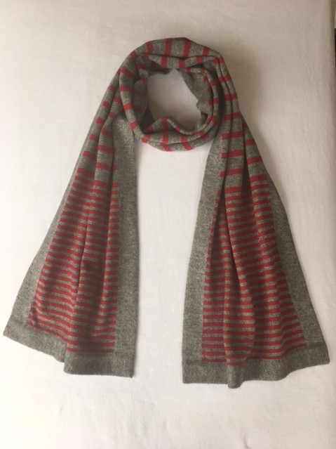 stripy scarf cherry