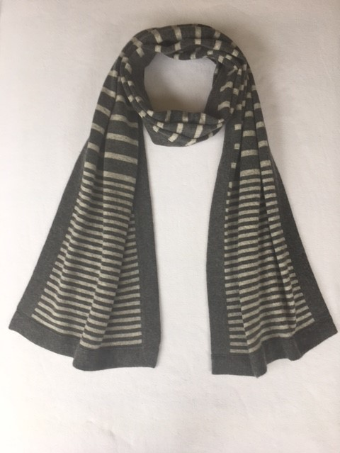stripy scarf charcoal