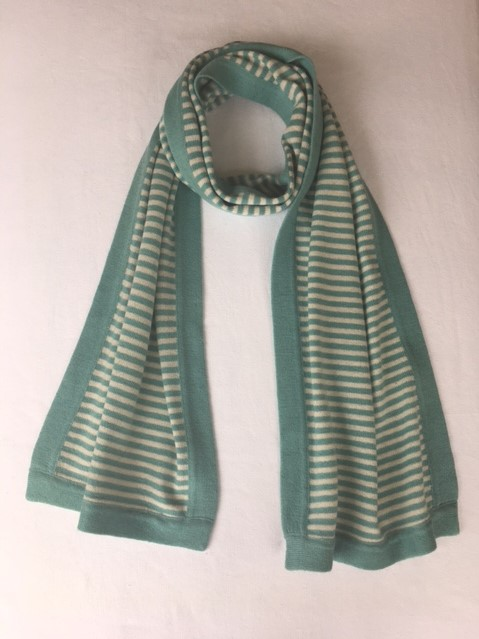 stripy scarf teal